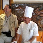 Serif Yenen at a cooking class
