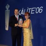 Serif Yenen is receiving the Best Tourist Guide Award from Skal, 2006