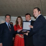 Serif Yenen and former Minister of Tourism Ertugrul Gunay are giving TUREB Awards