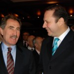 Serif Yenen with the former Minister of Tourism Ertugrul Gunay