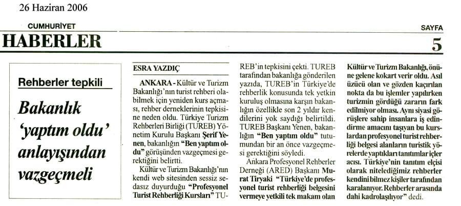 Press Sector Representative - Serif YenenSerif Yenen