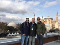 With Aziz Aslan and Uğur Bilgin from the Güldür Güldür Program